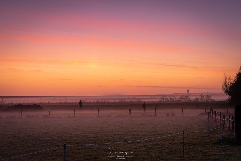 Landschapsfotografie - Een prachtige zonsondergang richting de Brandaris op Terschelling