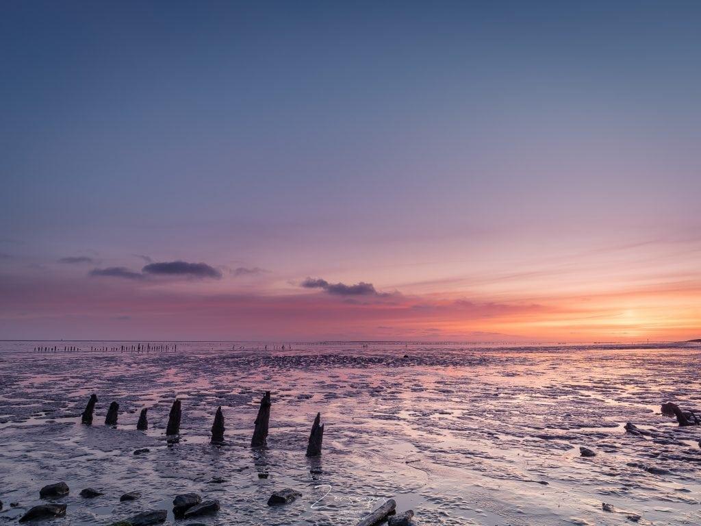 Landschapsfotografie Friesland - Zonsopkomst Wierum aan het Wad
